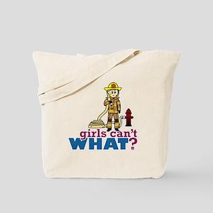 Firefighter Girls Tote Bag