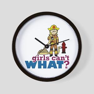 Firefighter Girls Wall Clock
