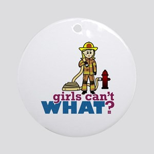 Firefighter Girls Ornament (Round)
