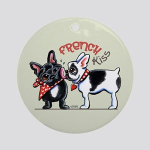 French Kiss Ornament (Round)