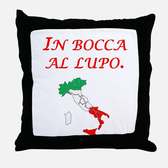 Italian Proverb Mouth Of A Wolf Throw Pillow