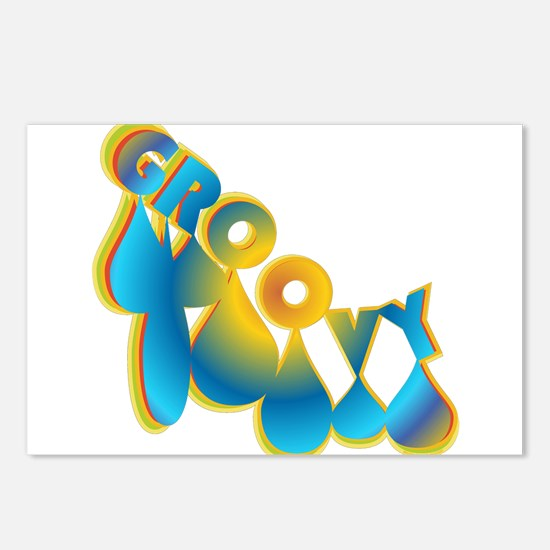 Groovy Postcards (Package of 8)