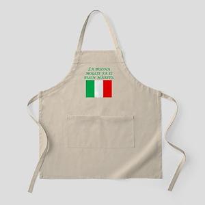 Italian Proverb Good Wife Husband Apron