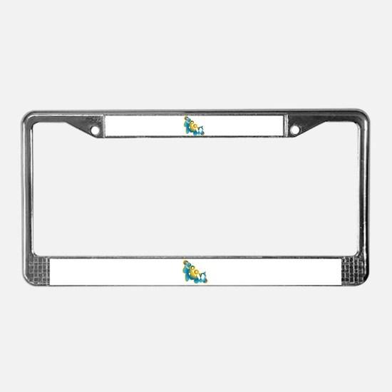 Groovy License Plate Frame