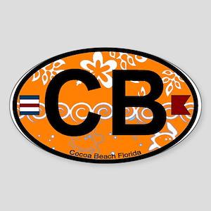 Cocoa Beach - Oval Design. Sticker (Oval)