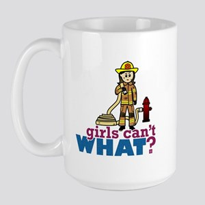 Woman Firefighter Large Mug