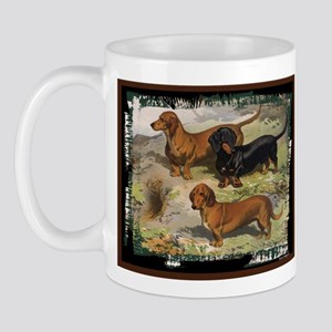 Antique Dachshund Doxie Mug