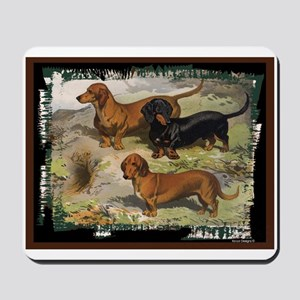 Antique Dachshund Doxie Mousepad