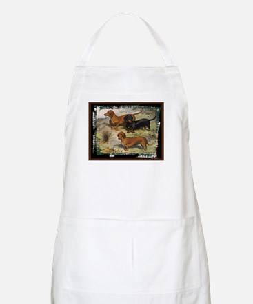 Antique Dachshund Doxie BBQ Apron