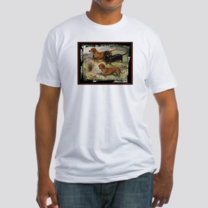 Antique Dachshund Doxie Fitted T-Shirt