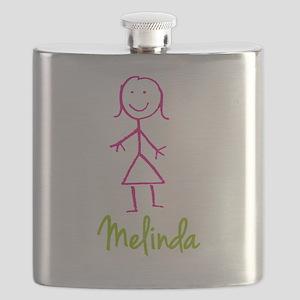 Melinda-cute-stick-girl Flask