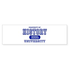 History University Bumper Bumper Sticker