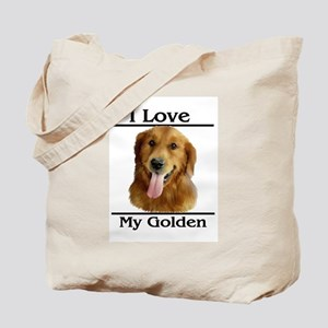 I Love My Golden Tote Bag