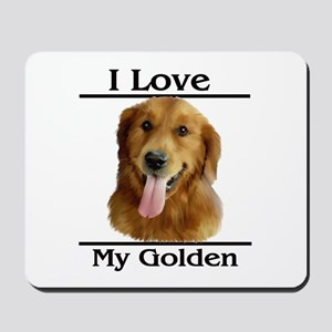 I Love My Golden Mousepad