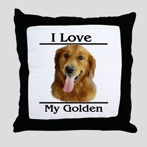 I Love My Golden Throw Pillow