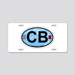 Cocoa Beach - Oval Design. Aluminum License Plate