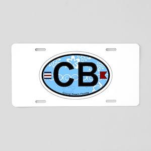 Cocoa Beach - Oval Design. Aluminum License Plate