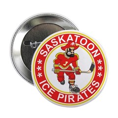 Saskatoon Ice Pirates Button