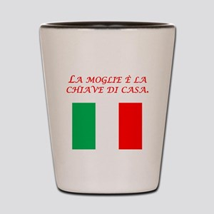 Italian Proverb Good Wife Shot Glass