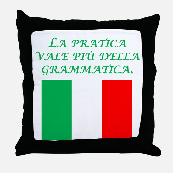 Italian Proverb Experience Throw Pillow