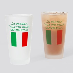 Italian Proverb Experience Drinking Glass