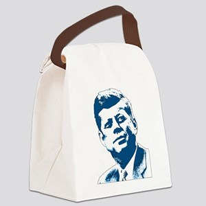 John F Kennedy Tribute Canvas Lunch Bag