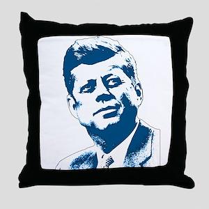 John F Kennedy Tribute Throw Pillow