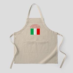 Italian Proverb Marriage Apron
