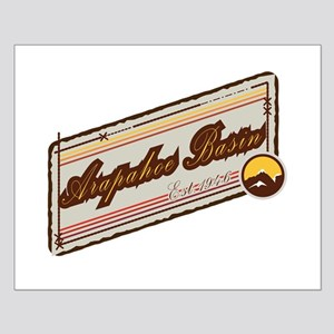 Arapahoe Basin Beige Patch Small Poster