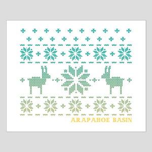 Arapahoe Basin Blue Winter Sweater Small Poster