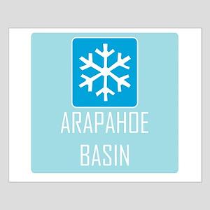 Arapahoe Basin Snowflake Small Poster