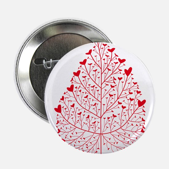 """red heart leaf 2.25"""" Button"""