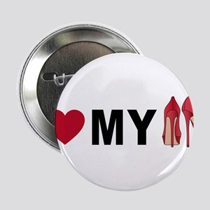 """I love my shoes 2.25"""" Button"""