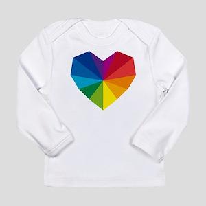 colorful geometric heart Long Sleeve Infant T-Shir