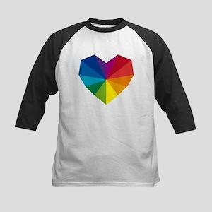 colorful geometric heart Kids Baseball Jersey