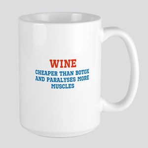 WINE vs BOTOX Large Mug