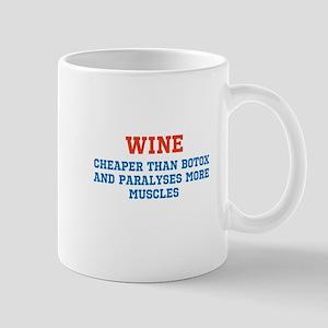 WINE vs BOTOX Mug