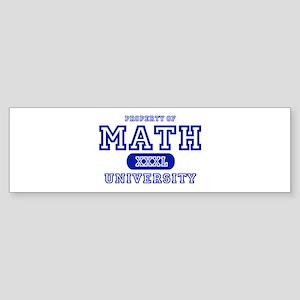 Math University Bumper Sticker