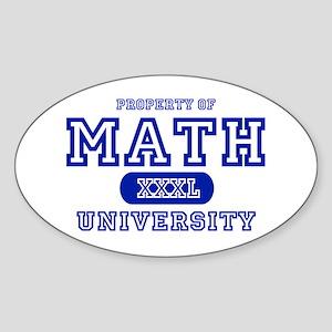 Math University Oval Sticker