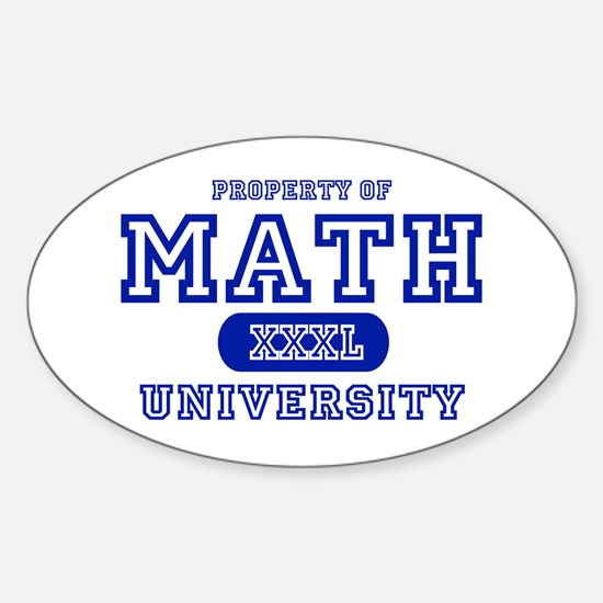 Math University Oval Decal