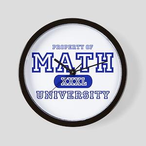 Math University Wall Clock