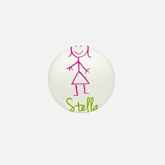 Stella-cute-stick-girl.png Mini Button
