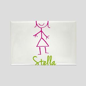 Stella-cute-stick-girl.png Rectangle Magnet
