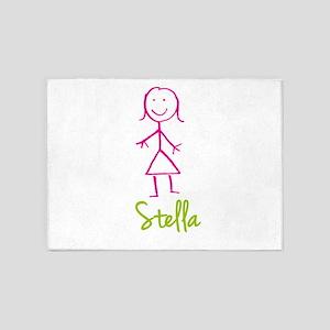 Stella-cute-stick-girl 5'x7'Area Rug