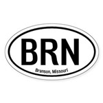 Branson, Missouri Oval Sticker