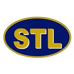 St. Louis, Missouri Oval Sticker