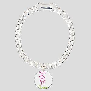 Christy-cute-stick-girl Charm Bracelet, One Ch