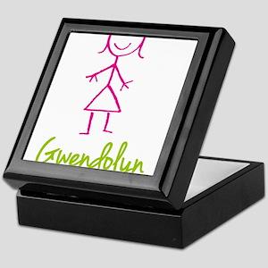 Gwendolyn-cute-stick-girl Keepsake Box