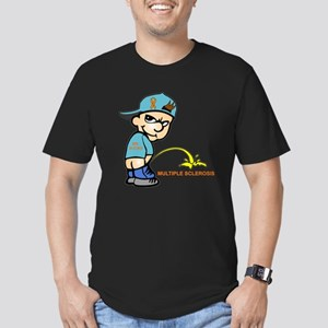 Piss on MS Men's Fitted T-Shirt (dark)