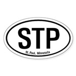 St. Paul, Minnesota Oval Sticker